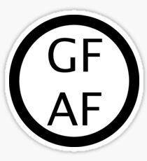 Gluten Free AF Sticker