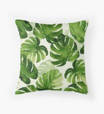 tropical leaf 2.0 Throw Pillow
