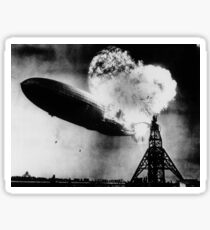 Hindenburg Disaster - Zeppelin Explosion Sticker