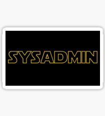Systems Administrator Sticker