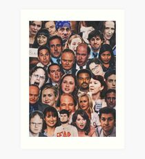 The Office Collage  Art Print