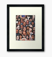 The Office Collage  Framed Print