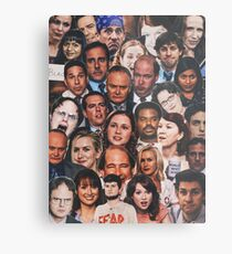 The Office Collage  Metal Print