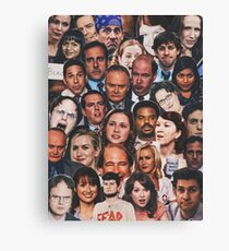 The Office Collage  Canvas Print