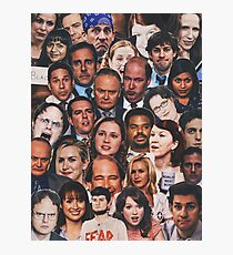 The Office Collage  Photographic Print