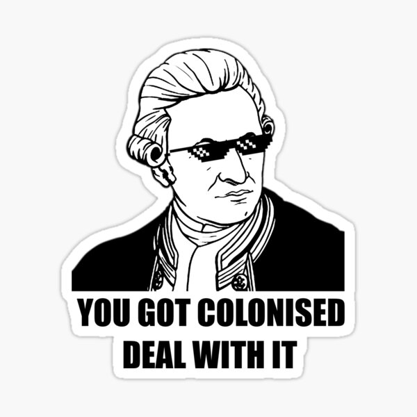 Captain Cook Deal With It Sticker