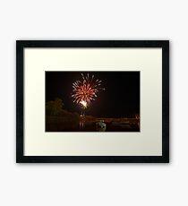 Bruns Fireworks Framed Print