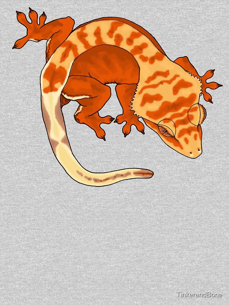 Super Tiger Crested Gecko by TinkerandBone