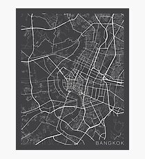 Bangkok Map, Thailand - Gray Photographic Print