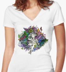 Yuuri Women's Fitted V-Neck T-Shirt