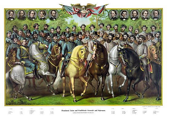Prominent Union and Confederate Generals and Statesman by warishellstore