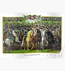 Prominent Union and Confederate Generals and Statesman Poster