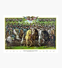 Prominent Union and Confederate Generals and Statesman Photographic Print