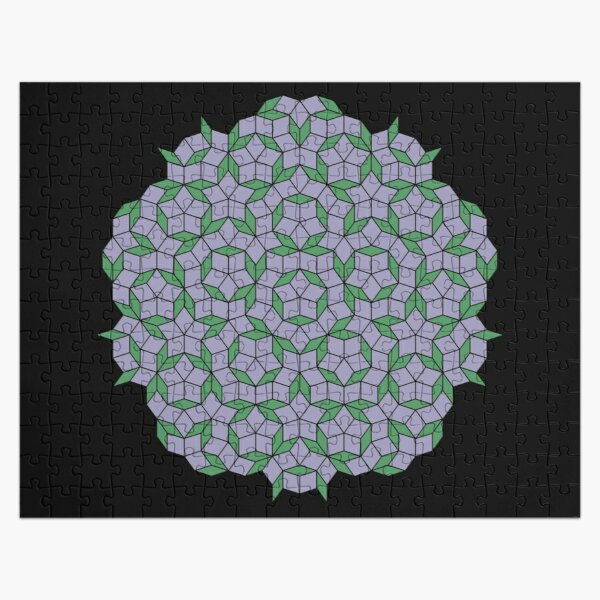 Aperiodic tiling - Purple and green Jigsaw Puzzle