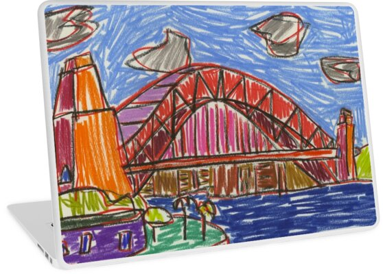 City LVI (2014) (Sydney Harbour Bridge) - drawing by artcollect by artcollect