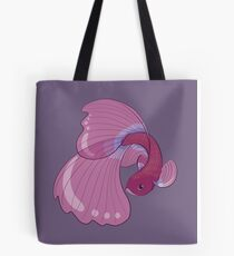 Purple, Gold and Blue Betta Fighting Fish  Tote Bag