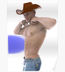 Strong willed cowboy Poster
