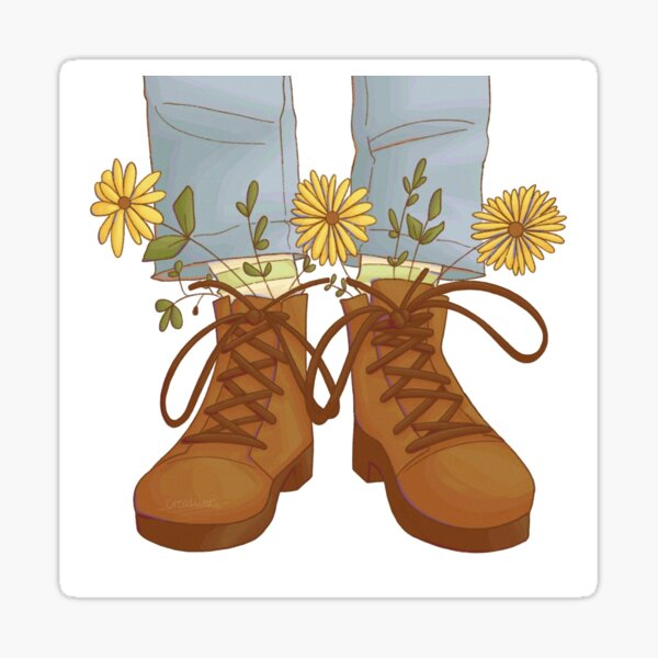 Shoes and Flowers Sticker