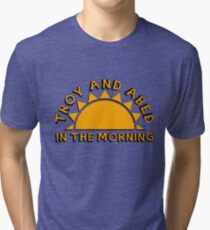 Community - Troy and Abed in the morning Tri-blend T-Shirt