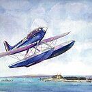 Schneider Trophy S6b over Calshot 1931 by Woodie