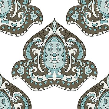 Beautiful Vintage seamless pattern. Ornament. Unusual. Indian motif. For your design by dasha122007