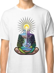 Psychedelic meditating Nature-man Classic T-Shirt