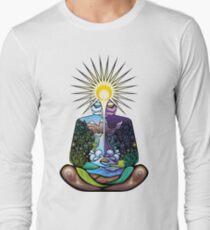Psychedelic meditating Nature-man T-Shirt