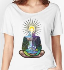 Psychedelic meditating Nature-man Women's Relaxed Fit T-Shirt