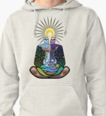 Psychedelic meditating Nature-man Pullover Hoodie