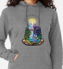 Psychedelisch meditierender Naturmensch Leichter Hoodie