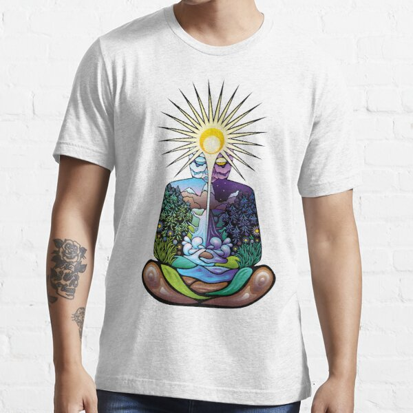 Psychedelic meditating Nature-man Essential T-Shirt