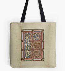 Decorated Incipit Page - Opening of Saint John's Gospel (1120 - 1140 AD) Tote Bag