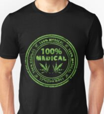 100% Medical Marijuana Stamp T-Shirt