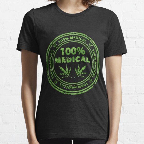 100% Medical Marijuana Stamp Essential T-Shirt