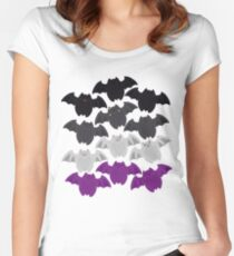 Bat Loaf- Ace Pride Women's Fitted Scoop T-Shirt