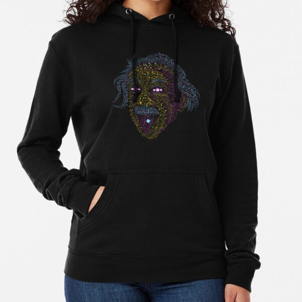 Acid Scientist tongue out psychedelic art poster Lightweight Hoodie