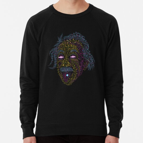 Acid Scientist tongue out psychedelic art poster Lightweight Sweatshirt