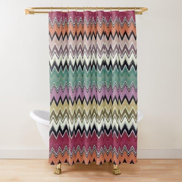 missoni home - colorful zig-zag chevron Shower Curtain