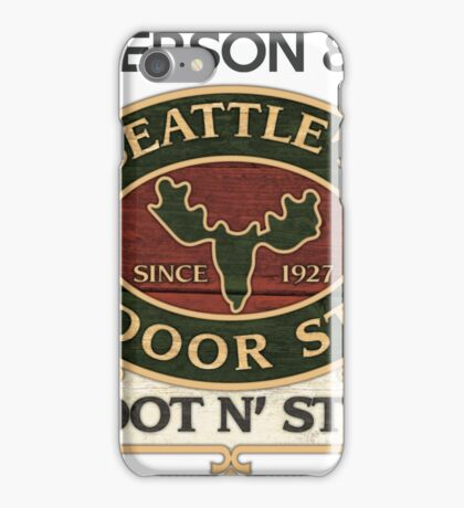 Seattle's Outdoor Store iPhone Case/Skin