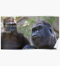 Dicks out 4 Harambe Poster