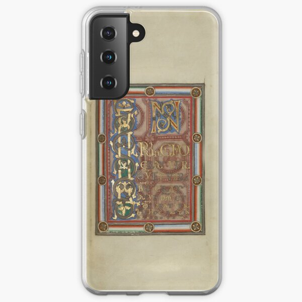 Decorated Incipit Page - Opening of Saint John's Gospel (1120 - 1140 AD) Samsung Galaxy Soft Case
