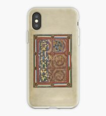 Decorated Incipit Page - Opening of Saint John's Gospel (1120 - 1140 AD) iPhone Case