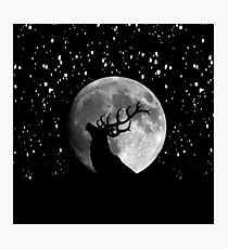 Oh Deer Moon Photographic Print