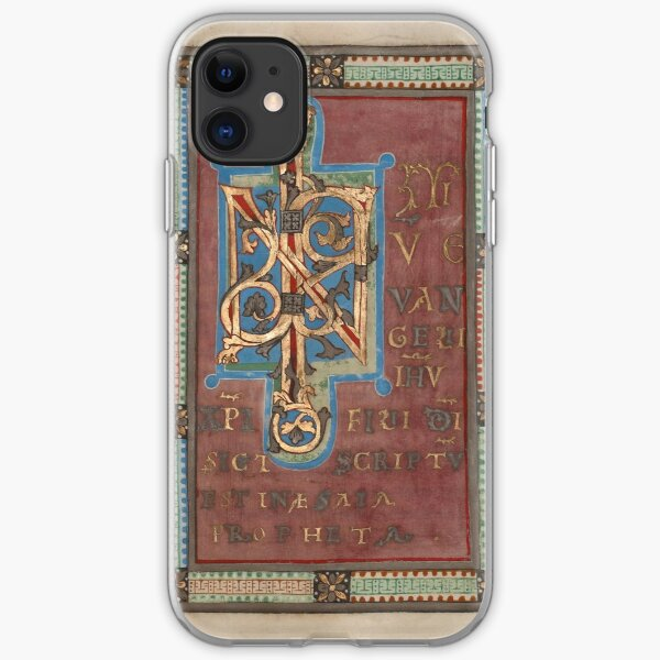Decorated Incipit Page - Beginning of Mark's Gospel (1120 - 1140 AD) iPhone Soft Case