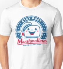 Stay Puft Marshmallows Ad from Ghostbusters T-shirt