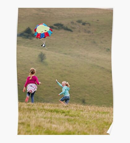Take to the skies: Devils Dyke, Sussex Poster