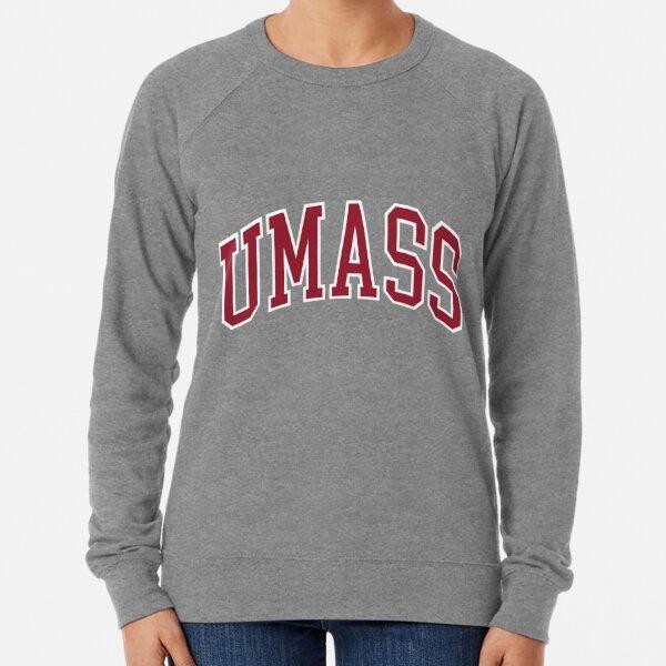 umass  - college font curved Lightweight Sweatshirt