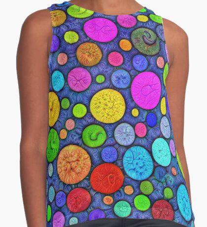 #DeepDream Color Circles Visual Areas 5x5K v1448629304 Sleeveless Top