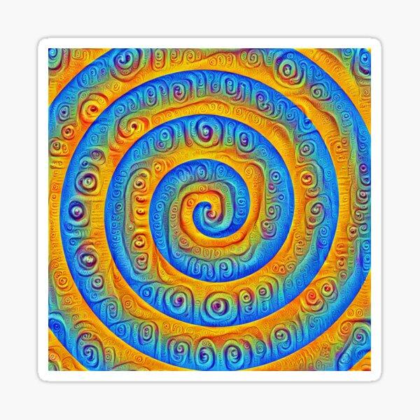 #DeepDreamed Swirl Sticker