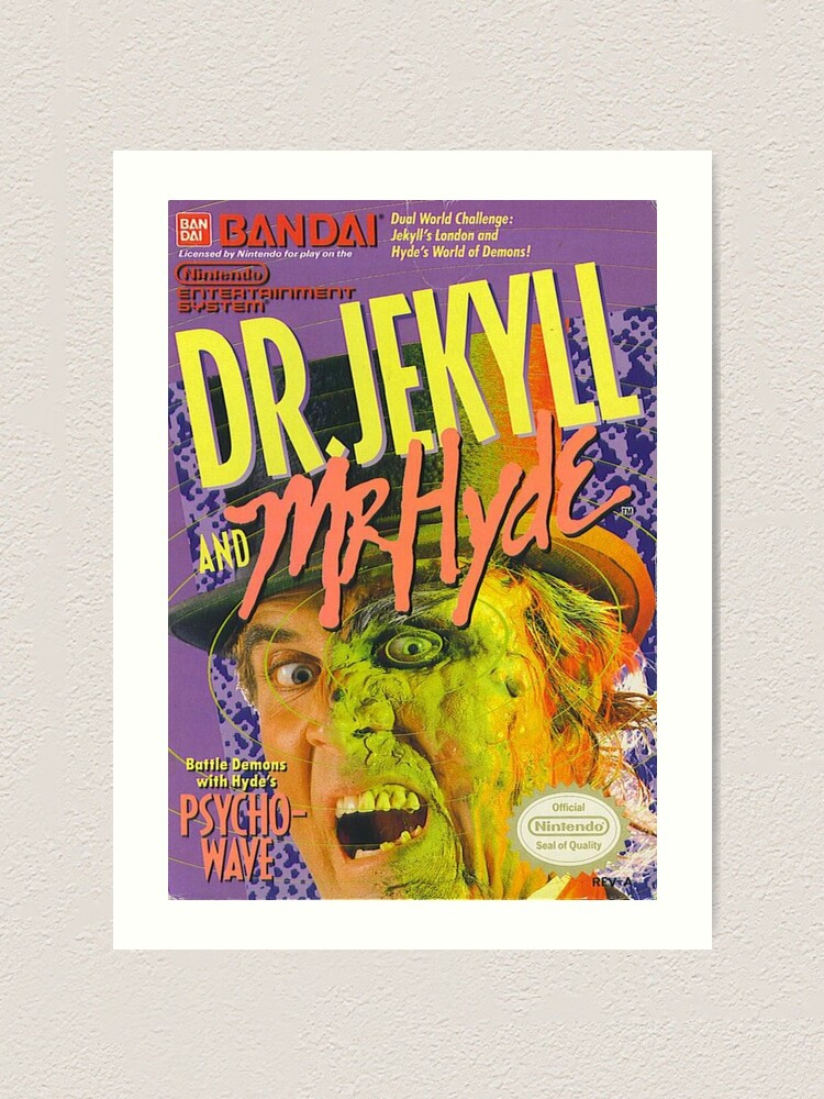 Dr Jekyll And Mr Hyde Nes Art Print By Meowgimmemunie Redbubble